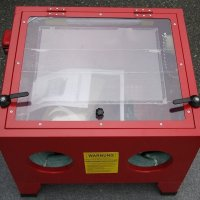 サンドブラスト キャビネット型 容量90L / サンドブラスター サビ取り 塗装剥がし ガラス彫刻